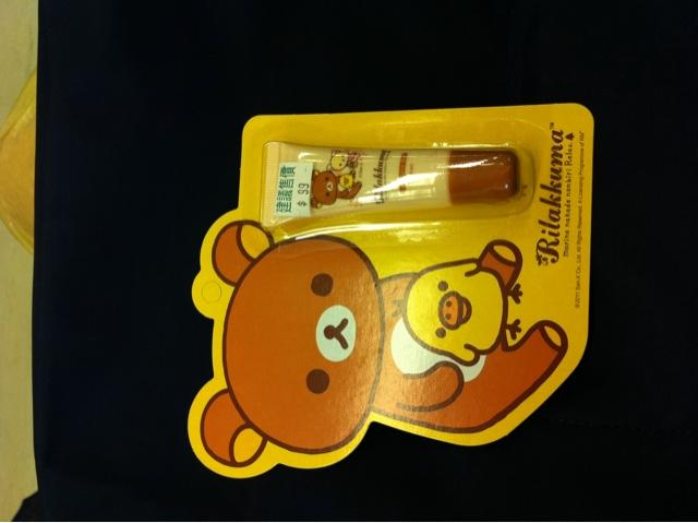 Drizzling over at ???? w strong winds.. *shivers! Rilakkuma is v popular here in tw. Bought this cute lipbalm.